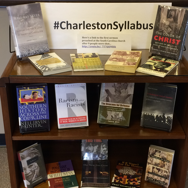 Display at Lipscomb University's Beaman Library (courtesy of Elizabeth Heffington)