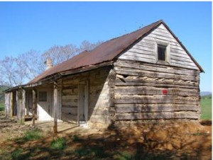 19th century slave cabin at Greenfield Plantation in Botetourt County, VA